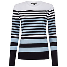 Buy Hobbs Emily T-Shirt, Dark Dusk Multi Online at johnlewis.com
