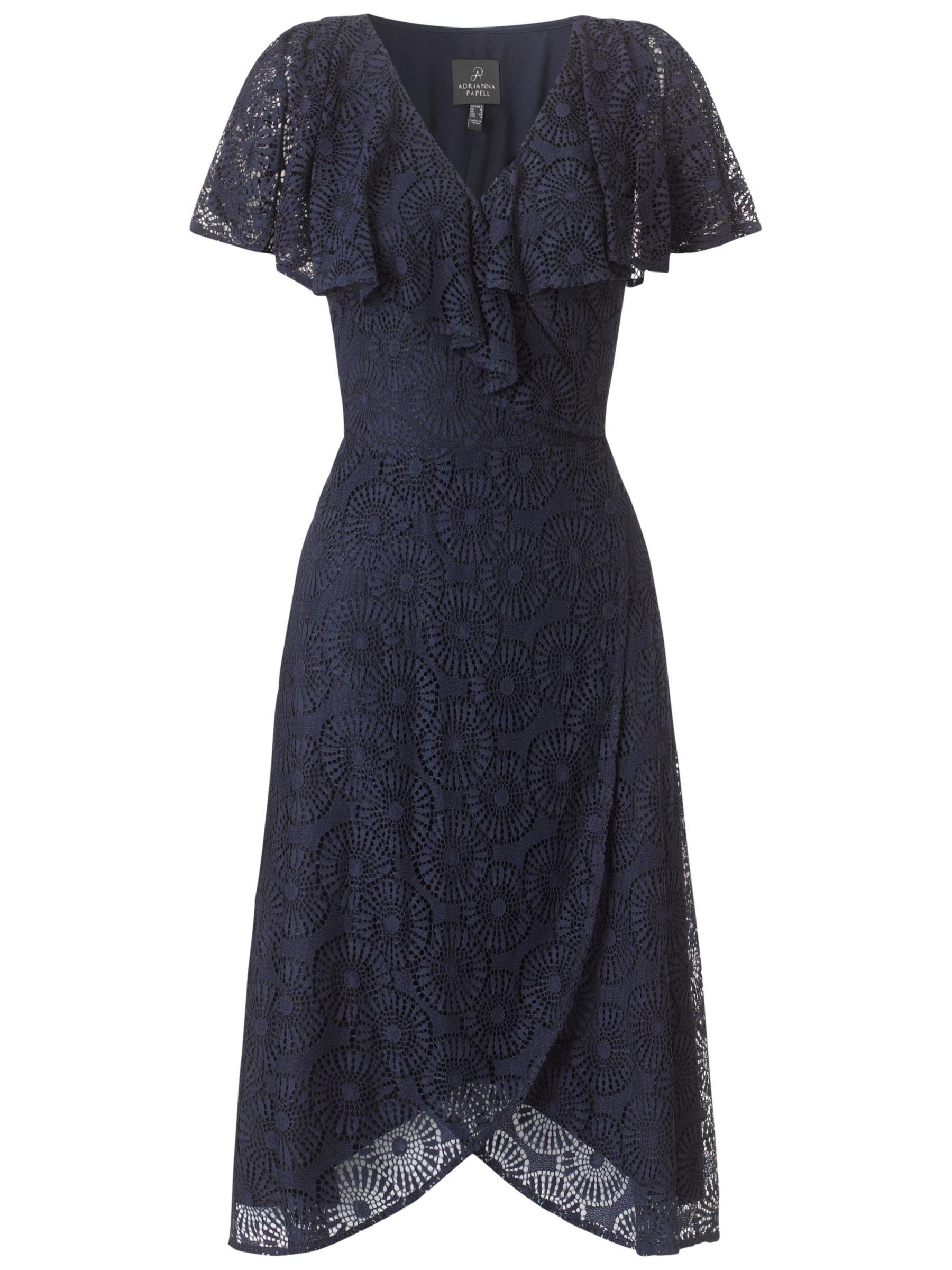 Adrianna Papell Crochet Dress, Navy