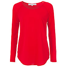 Buy French Connection Polly Plains Top, Royal Scarlet Online at johnlewis.com