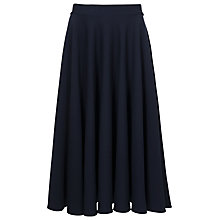 Buy French Connection Marie Stretch Flare Skirt, Utility Blue Online at johnlewis.com