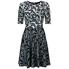 Buy Hobbs Swallow Block Dress, Navy Ivory Online at johnlewis.com