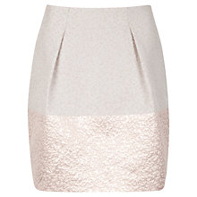 Buy Ted Baker Structured Tulip Skirt, Metallic Online at johnlewis.com
