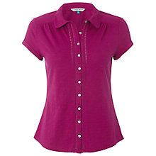 Buy White Stuff Good Day Shirt, Magenta Go Online at johnlewis.com