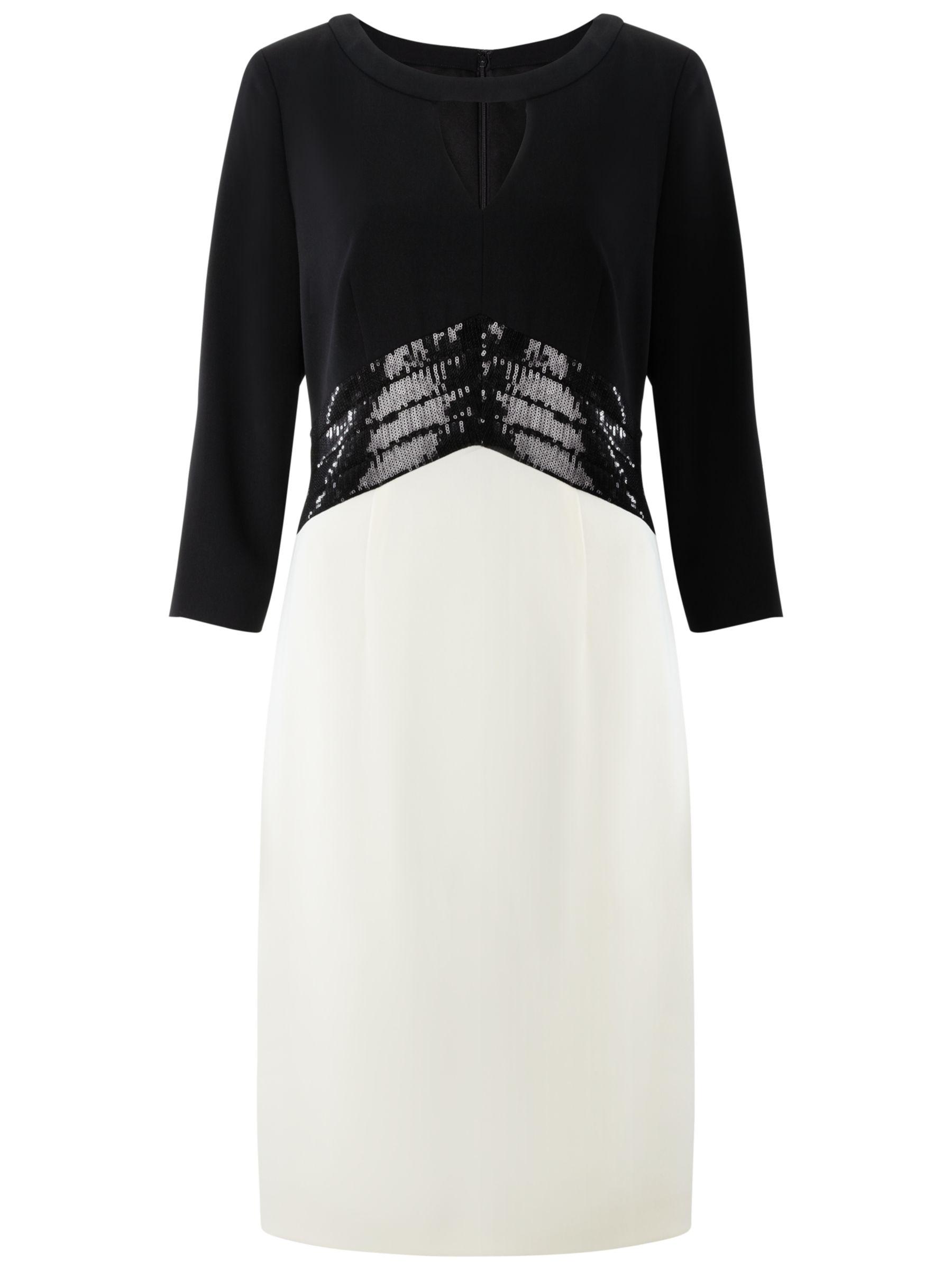 Gina Bacconi Moss Crepe Dress, Chalk Light