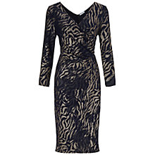 Buy Gina Bacconi Skin Print Dress, Royal/Black Online at johnlewis.com
