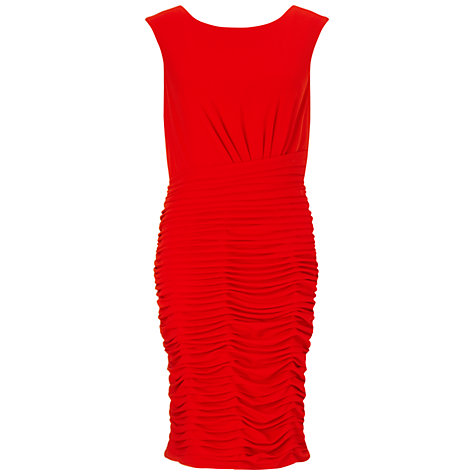 Buy Gina Bacconi Stretch Dress With Pleat, Red Online at johnlewis.com