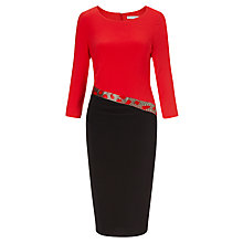 Buy Gina Bacconi Beaded Band Jersey Dress, Black Online at johnlewis.com