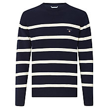 Buy Gant Breton Striped Crew Neck Jumper Online at johnlewis.com
