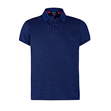 Buy Gant Solid Polo Shirt, Indigo Online at johnlewis.com