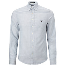 Buy Gant Lobby Twill Breton Stripe Shirt, Pool Side Blue Online at johnlewis.com