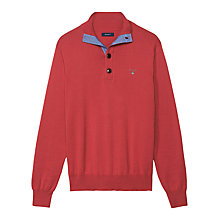 Buy Gant Classic Cotton Mock Neck Jersey Top Online at johnlewis.com