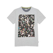Buy Ted Baker Salen Graphic T-Shirt, Light Grey Online at johnlewis.com