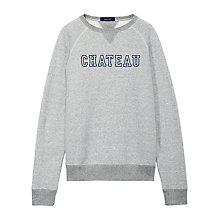 Buy Gant Chateau Crewneck Sweatshirt, Steel Grey Online at johnlewis.com