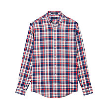 Buy Gant Bellboy Poplin Check Shirt, Navy/Red/White Online at johnlewis.com