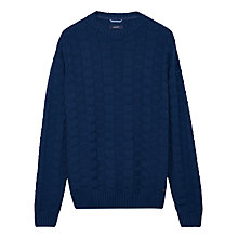 Buy Gant Cotton Structured Crew Jumper Online at johnlewis.com
