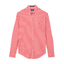 Buy Gant Lobby Oxford Gingham Shirt, Carpet Red Online at johnlewis.com