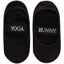 Buy Manuka Yoga Bunny Socks, Black Online at johnlewis.com