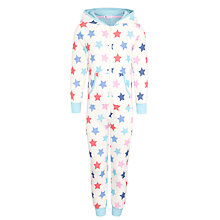 Buy John Lewis Girl Star Print Hooded Onesie, Multi Online at johnlewis.com