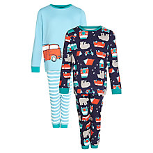 Buy John Lewis Boy Campervan and Bear Pyjamas, Pack of 2 Online at johnlewis.com