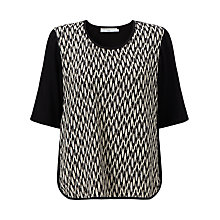 Buy John Lewis Capsule Collection Ikat Print Top, Black/White Online at johnlewis.com