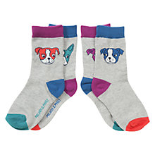Buy Polarn O. Pyret Baby's Dog Socks, Pack of 2, Grey Online at johnlewis.com