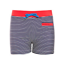 Buy John Lewis Boy Nautical Stripe Swimming Trunks, Navy/White Online at johnlewis.com