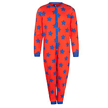 Buy John Lewis Boy Star Jersey Onesie, Red/Blue Online at johnlewis.com