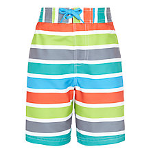 Buy John Lewis Boy Stripe Board Shorts, Multi Online at johnlewis.com