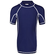 Buy John Lewis Boys' Rash Vest , Navy Online at johnlewis.com
