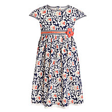 Buy John Lewis Girl Short Sleeve Floral Dress, Navy/Multi Online at johnlewis.com