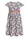 John Lewis Girl Short Sleeve Floral Dress, Navy/Multi