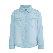 Buy John Lewis Girl Denim Shirt, Light Blue Online at johnlewis.com