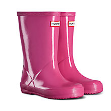 Buy Hunter Children's Gloss Wellingtons, Fuschia Online at johnlewis.com