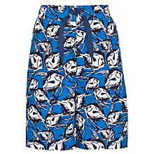 Buy John Lewis Boy Sketchy Fish Board Shorts, Navy Online at johnlewis.com