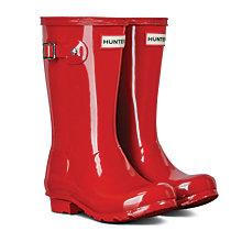 Buy Hunter Kids' Original Gloss Wellington Boots Online at johnlewis.com