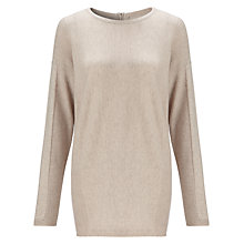 Buy John Lewis Capsule Collection Longline Horizontal Rib Tunic, Oat Online at johnlewis.com