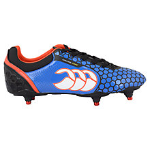 Buy Canterbury of New Zealand Control Club 6 Rugby Boots, Blue Online at johnlewis.com