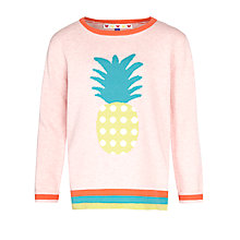 Buy John Lewis Girl Pineapple Jumper, Rose/Multi Online at johnlewis.com