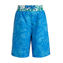 Buy John Lewis Boy Floral Board Shorts, Blue Online at johnlewis.com