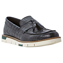 Buy Bertie Bumper Tassle Faux Croc Penny Loafers, Black Online at johnlewis.com