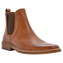 Buy Dune Manderin Leather Chelsea Boots, Tan Online at johnlewis.com
