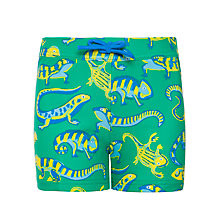 Buy John Lewis Boy Lizard Trunks, Green/Multi Online at johnlewis.com