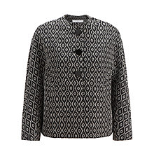 Buy John Lewis Capsule Collection Short Dolman Jacket, Black/Cream Online at johnlewis.com