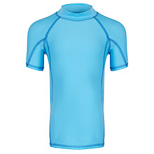 Buy John Lewis Boy Short Sleeve Rash Vest, Blue Online at johnlewis.com