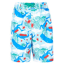 Buy John Lewis Boy Sea Creatures Board Shorts, Bue Online at johnlewis.com
