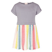 Buy Kin by John Lewis Girls' Jersey Top Stripe Skirt Dress, Grey/Multi Online at johnlewis.com