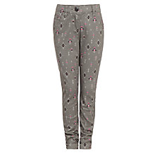 Buy John Lewis Girl Aztec Print Trousers, Grey Online at johnlewis.com
