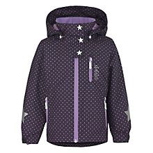 Buy Skogstad Girls' Fesse Fleece Jacket, Navy/Purple Online at johnlewis.com