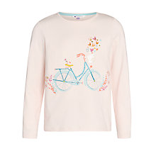 Buy John Lewis Girl Bicyle Print Long Sleeve T-Shirt, Rose Online at johnlewis.com