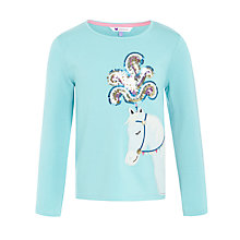 Buy John Lewis Girl Horse Embellished Long Sleeve T-Shirt, Aqua Online at johnlewis.com
